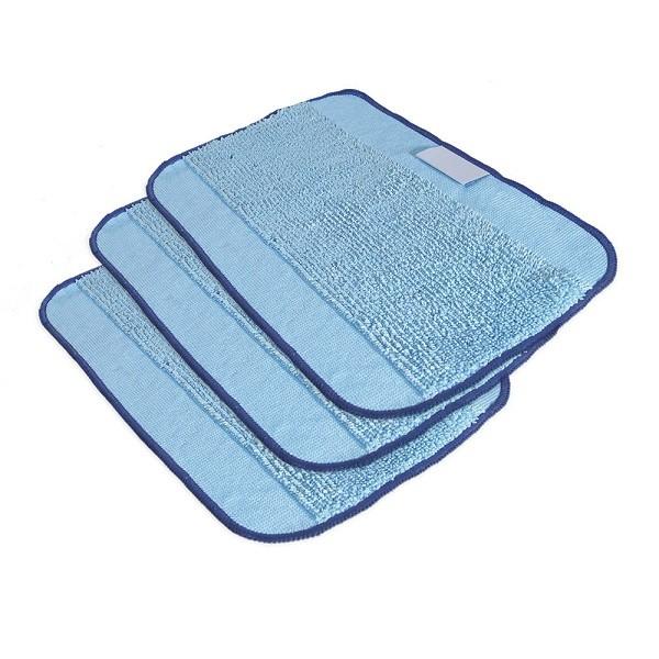 Lot de 3 tissus en microfibre nettoyage humide pour BRAAVA 390t IROBOT