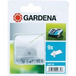 Kit 9 lames 0.60mm CarbonSteel LongLife + vis GARDENA 4087-20
