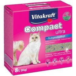 Litière agglomérante fine Compact Ultra Plus VITAKRAFT 16079
