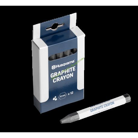 Lot de 12 Crayons graphite HUSQVARNA 593975501