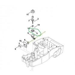 Support joystick capteur de choc pour MI322 VIKING 63004051910