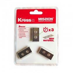 Kit 6 lames 1mm LongLife + vis KRESS KA0002
