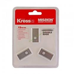 Kit 12 lames 1mm standart + vis KRESS KA0001