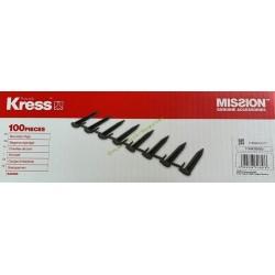 Lot de 100 Piquets de fixation pour câble KRESS KA0050