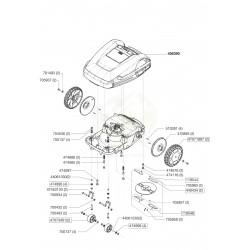 Flasque de roue arrière pour robot Robolinho ALKO 470895
