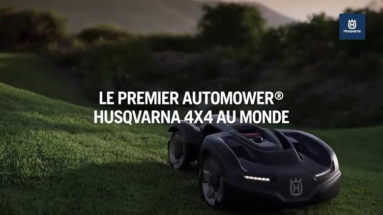 HUSQVARNA 435X AWD, le premier robot de tonte 4 roues motrices au monde